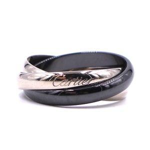 Trinity 18k 750 Ceramic Wide Size 60 9-9.25 Ring